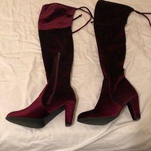 OTK Velvet Boots